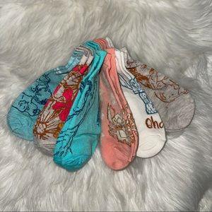 🌺 6-Pk Disney Lilo & Stitch No-Show Ankle Socks